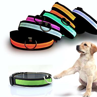 Câine Gulere Lumini LED Ajustabile / Retractabil Reflexiv baterii incluse Electronic/Electric Bliț Siguranță Mată Curcubeu Nailon Galben