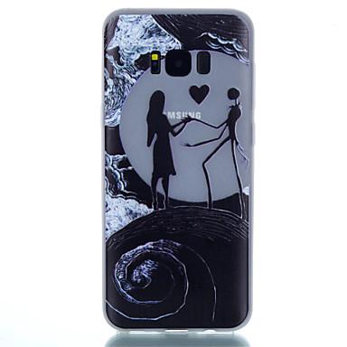 olcso Galaxy S4 Mini tokok-Case Kompatibilitás Samsung Galaxy S8 Plus / S8 / S7 edge Foszforeszkáló / Minta Fekete tok Látvány Puha TPU