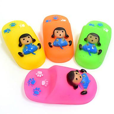 Köpek Oyuncağı Evcil Hayvan Oyuncakları Çiğneme Oyuncağı Oyuncak Diş Temizleme Karton Ses Çıkaran Dayanıklı Ayakkabılar Silikon Evcil