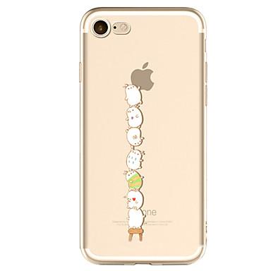Maska Pentru Apple iPhone X iPhone 8 Plus iPhone 7 iPhone 6 Carcasă iPhone 5 Model Carcasă Spate Se joaca cu logo-ul Apple Moale TPU