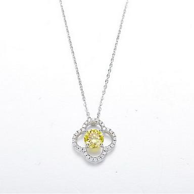 Naszyjniki z wisiorkami Flower Shape Srebro standardowe Wiszący Podstawowy Modny Biżuteria Na Codzienny Casual