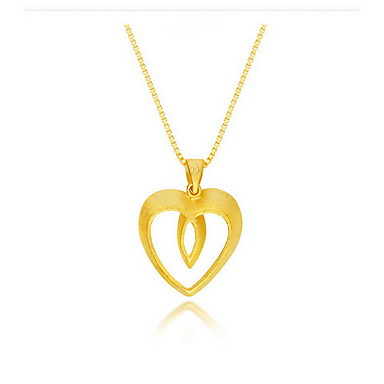 Κοσμήματα Κρεμαστά Κολιέ - Επιχρυσωμένο, 18Κ Επίχρυσο Φίδι, Καρδιά Χρυσό