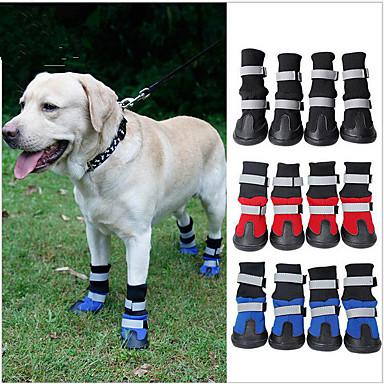 Kedi Köpek Ayakkabılar ve Botlar Su Geçirmez Zıt Renkli Siyah Kırmzı Mavi Evcil hayvanlar için