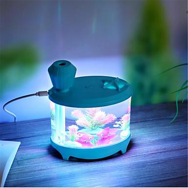 Yaratıcı akvaryum usb şarj sürümü küçük gece lambası ev nemlendirici (usb hat şarj)