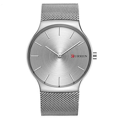 CURREN Męskie Kwarcowy Zegarek na nadgarstek / Na codzień Stop Pasmo Na co dzień Minimalistyczny Modny Srebro Złoty