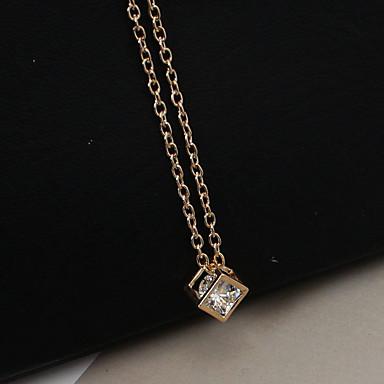 billige Mode Halskæde-Dame Halskædevedhæng lang halskæde Rhinsten Simuleret diamant Mode Guld Sølv Halskæder Smykker Til Afslappet