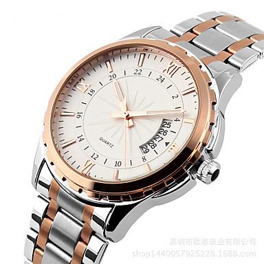 Kadın's Moda Saat Quartz Alaşım Bant Günlük Gümüş