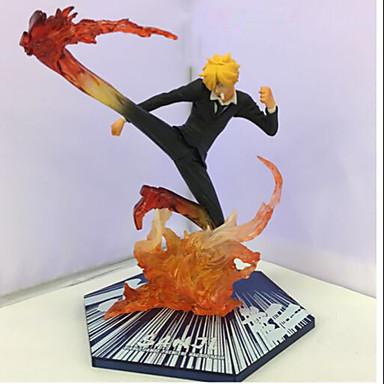 Rysunki Anime akcji Zainspirowany przez One Piece Sanji PVC 15.5 CM Klocki Lalka Zabawka