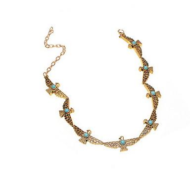 Naszyjniki choker Biżuteria Circle Shape Stop Zwierzęta Modny Postarzane euroamerykańskiej Osobiste Europejski Gold Silver Biżuteria Na