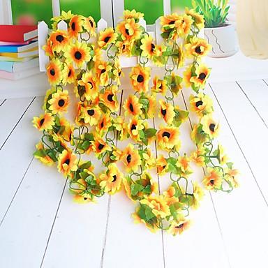 Sztuczne Kwiaty 1 Gałąź minimalistyczny styl Słoneczniki Kwiaty na ścianę