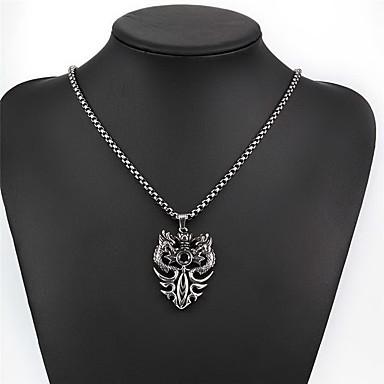 billige Mode Halskæde-Herre Vedhæng Dyreformet Drage Titanium Stål Enkelt design Mode Europæisk Punk Stil Smykker Til Daglig Afslappet