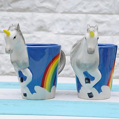 Κινούμενα σχέδια Ποτήρια, 300 ml Διακοσμητικό φίλη δώρο Κεραμικό Χυμός Γάλα Κούπες Καφέ