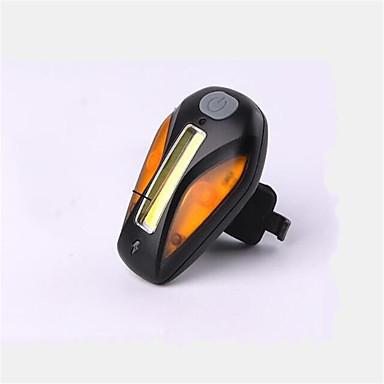اضواء الدراجة ضوء الدراجة الخلفي ركوب الدراجة قابلة لإعادة الشحن زلة المضادة حجم مصغر لون التغير USB البطارية ليثيوم شمعة USB أحمر أصفر
