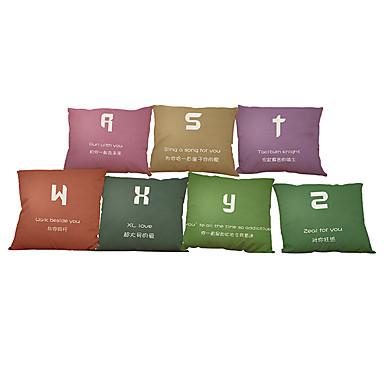 7 szt Bielizna Pokrywa Pillow Poszewka na poduszkę,Stały Nowość Textured Wildlife Słowa i cytatyModern / Contemporary Przypadkowy Biuro /