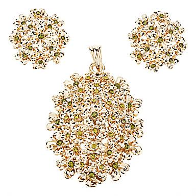 Kadın Takı Seti Japan and Korea Style Sweet Style Avrupa Tipi Moda Parti Özel Anlar Doğumgünü Kristal Akik Jadeit Vücut Mücevheri Kolczyki
