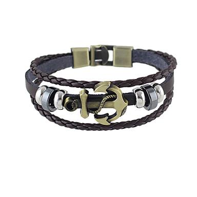 Tılsım Bileklikler Deri Arkadaşlık Moda Mücevher Beyaz Siyah Kahverengi Mücevher 1pc