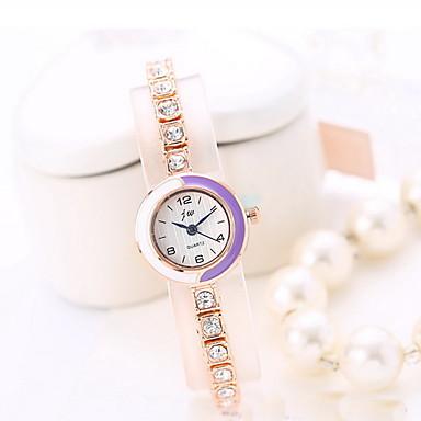 Damskie Modny Sztuczny Diamant Zegarek Kwarcowy Stop Pasmo Błyszczące Nowoczesne Na co dzień Różowe złoto