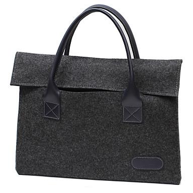 elma macbook hava / pro 13,3 pro15.4 inç veya daha az çanta kollu laptop çantası basit eğlence tarzı notebook çantası düz renk keçe