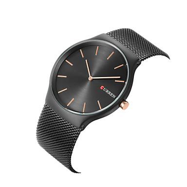 levne Pánské-CURREN Pánské Módní hodinky Hodinky k šatům Náramkové hodinky Křemenný Nerez Vícebarevný 30 m Velký ciferník Analogové Přívěšky Klasické Na běžné nošení Minimalistické - Stříbrná Modrá Bílá / Zlatá