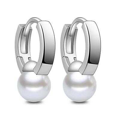 Κρίκοι Κοσμήματα Απομίμηση Μαργαριτάρι κοστούμι κοστουμιών Ασήμι Στερλίνας Κοσμήματα Για Γάμου Πάρτι Καθημερινά Causal