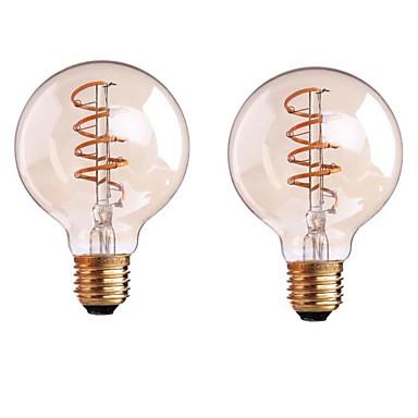 ONDENN 2pcs 4W 400-500 lm B22 E26/E27 LED Filaman Ampuller G80 1 led COB Kısılabilir Sıcak Beyaz AC 220-240 AC 110-130 V