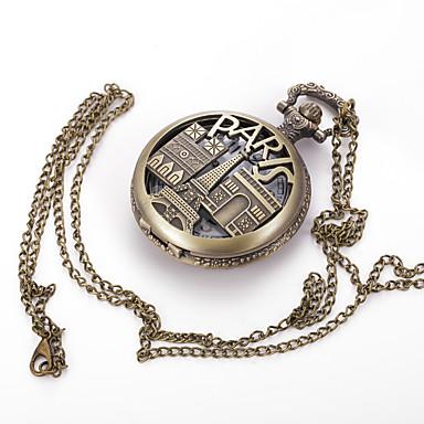 Męskie Zegarek na naszyjniku Zegarek kieszonkowy Kwarcowy Stop Pasmo Urok Vintage Na co dzień Wielokoloroe