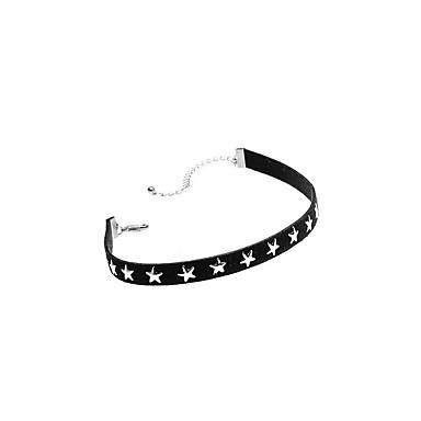 Damskie Naszyjniki choker Biżuteria Star Shape Miedź Materiał Modny euroamerykańskiej minimalistyczny styl Osobiste Europejski Biżuteria