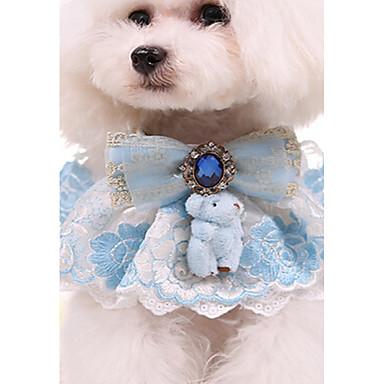 Pisici Câine Gulere Ajustabile / Retractabil Iubire Dantelă Material Textil Albastru Roz