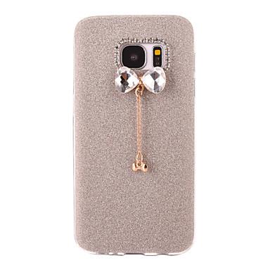 Etui Käyttötarkoitus Samsung Galaxy S7 edge S7 Himmeä DIY Takakuori Kimmeltävä Pehmeä TPU varten S7 edge S7 S6 edge plus S6 edge S6