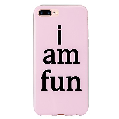 Käyttötarkoitus kotelot kuoret IMD Kuvio Takakuori Etui Sana / lause Pehmeä TPU varten Apple iPhone 7 Plus iPhone 7 iPhone 6s Plus iPhone