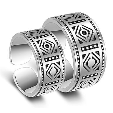 Damskie Powłoka platynowa Pierścionki dla par / Pierscionek - Elegancki Silver Pierścień Na Ślub / Impreza / Specjalne okazje