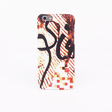 Etui Käyttötarkoitus Apple Himmeä Koristeltu Kuvio Takakuori Linjat / aallot Kova PC varten iPhone 7 Plus iPhone 7 iPhone 6s Plus iPhone