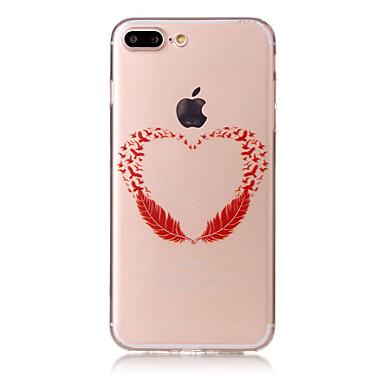 Için Temalı Pouzdro Arka Kılıf Pouzdro Kalp Yumuşak TPU için Apple iPhone 7 Plus iPhone 7 iPhone 6s Plus/6 Plus iPhone 6s/6 iPhone SE/5s/5