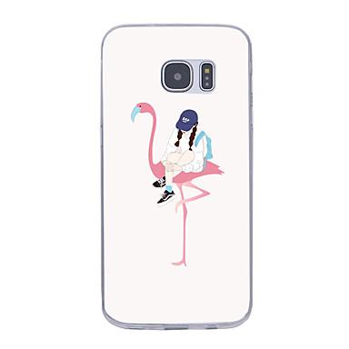 Για Εξαιρετικά λεπτή Με σχέδια tok Πίσω Κάλυμμα tok Σέξι κυρία Μαλακή TPU για Samsung Note 5 Note 4