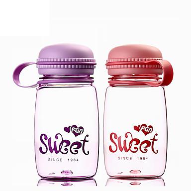 Κινούμενα σχέδια μινιμαλισμός Ποτήρια, 320 ml Φορητό Υδατοστεγές Πλαστικό Τσάι Χυμός Μπουκάλια Νερού