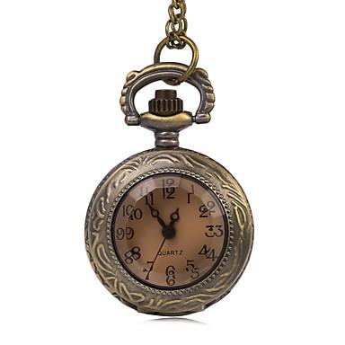 Pentru femei Ceas de buzunar Quartz imitație de diamant Aliaj Bandă Vintage Bronz