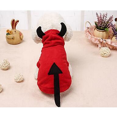 Pisici Câine Haine Îmbrăcăminte Câini Draguț Solid Rosu Costume Pentru animale de companie