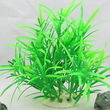 Διακόσμηση Ενυδρείου Υδρόβιο φυτό Μη τοξικό και χωρίς γεύση Πλαστικό Πράσινο