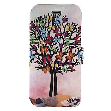 Για Θήκη καρτών Πορτοφόλι με βάση στήριξης Ανοιγόμενη Ανάγλυφη Με σχέδια tok Πλήρης κάλυψη tok Δέντρο Σκληρή Συνθετικό δέρμα για Apple