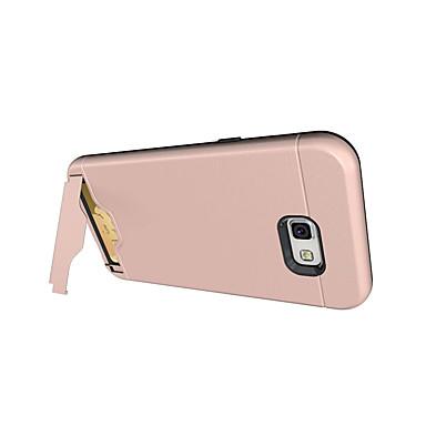 غطاء من أجل Samsung Galaxy A5(2017) A3(2017) حامل البطاقات ضد الصدمات مع حامل IMD غطاء خلفي لون الصلبة قاسي الكمبيوتر الشخصي إلى A3
