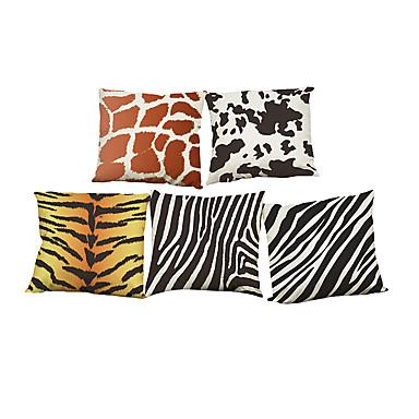 5 szt Bielizna Naturalne / ekologiczne Poszewka na poduszkę Pokrywa Pillow, Jendolity kolor Kwiaty Pled Textured Na co dzień Styl plażowy