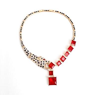 Γυναικεία Κολιέ Τσόκερ Κοσμήματα Animal Shape Κοσμήματα Μαύρο Ματ Συνθετικοί πολύτιμοι λίθοι Επιχρυσωμένο Προσομειωμένο διαμάντι Κράμα