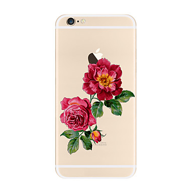 Kılıf Na Apple iPhone X iPhone 8 Plus Przezroczyste Wzór Czarne etui Kwiaty Miękkie TPU na iPhone X iPhone 8 Plus iPhone 8 iPhone 7 Plus