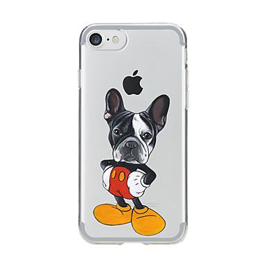 Etui Käyttötarkoitus Apple iPhone 7 Plus iPhone 7 Läpinäkyvä Kuvio Takakuori Koira Pehmeä TPU varten iPhone 7 Plus iPhone 7 iPhone 6s