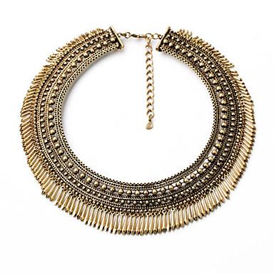 Kadın's Yaka Round Shape Eşsiz Tasarım Euramerican Bronz Mücevher Için 1pc