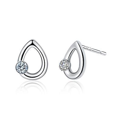 Kadın's Vidali Küpeler Kübik Zirconia Lüks Eşsiz Tasarım Moda Euramerican Som Gümüş Zirkon Simüle Elmas Geometric Shape Damla Mücevher