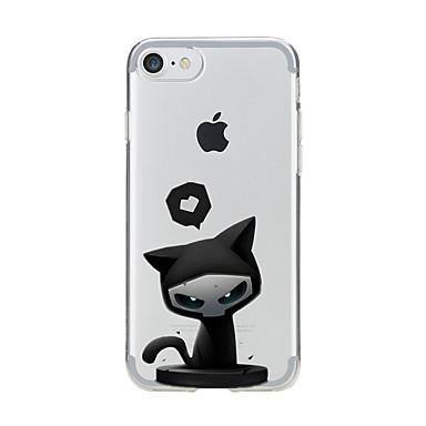 غطاء من أجل Apple iPhone 7 Plus iPhone 7 شفاف نموذج غطاء خلفي قطة ناعم TPU إلى iPhone 7 Plus iPhone 7 iPhone 6s Plus ايفون 6s iPhone 6