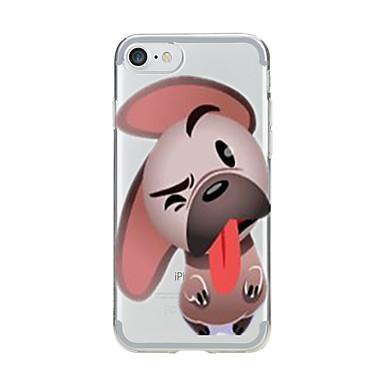 Kılıf Na Apple iPhone 7 Plus iPhone 7 Przezroczyste Wzór Czarne etui Pies Miękkie TPU na iPhone 7 Plus iPhone 7 iPhone 6s Plus iPhone 6s