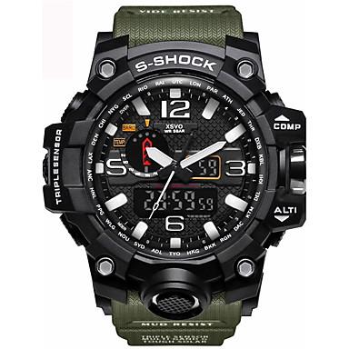 5a6e823e9a64 abordables Relojes de Hombre-Hombre Reloj Deportivo Reloj Militar Reloj de  Pulsera Silicona Negro