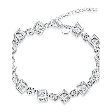 Damskie Posrebrzany Bransoletki i łańcuszki na rękę - Vintage Przyjaźń Modny Geometric Shape Silver Bransoletki Na Prezenty